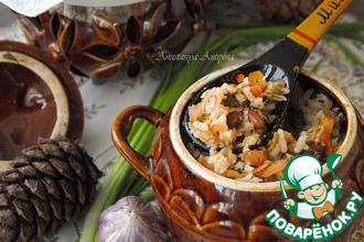 Рецепт: Овощное рагу с рисом и фасолью