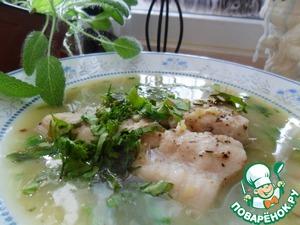 Рецепт Суп-пюре с рыбой и зеленым горошком