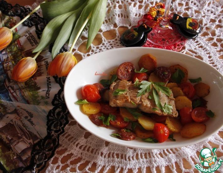 Рецепт: Испанская сковорода