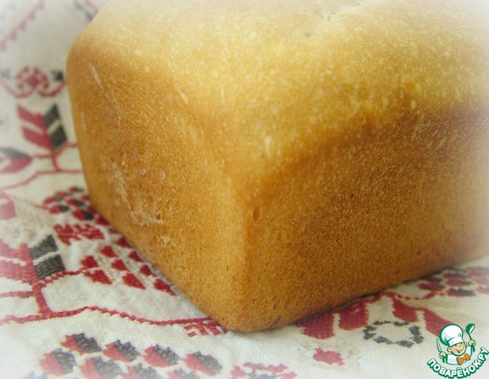 Рецепт: Простейший белый хлеб на закваске. Дубль 2