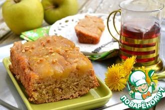 Рецепт: Постный яблочный пирог-перевертыш