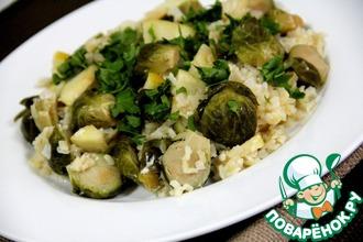 Рецепт: Рис с брюсельской капустой и яблоком