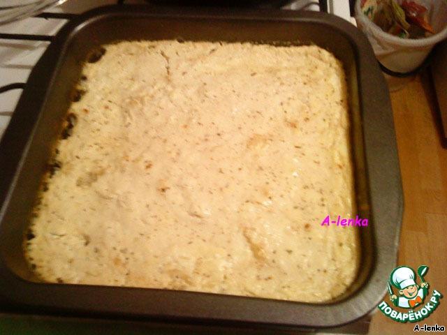 запеченный майонезом рис с