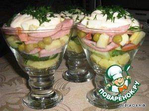 Салат праздничный  картофельный – кулинарный рецепт