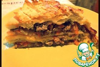 Рецепт: Пирог из лаваша Бюджетная лазанья