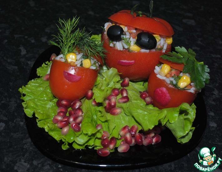 Рецепт: Семья помидорыча