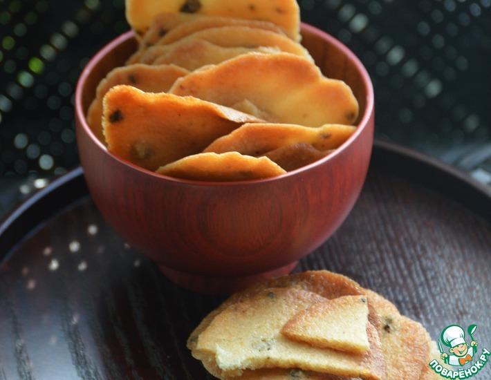 Рецепт: Печенье из рисовых хлопьев с перцем