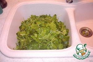 шпинат  лук укроп вымыть