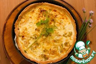 Рецепт: Сырный пирог с луком-пореем