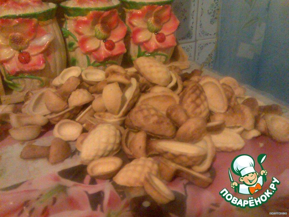 """Печенье с начинкой """"Орешки"""" и """"Грибочки"""""""