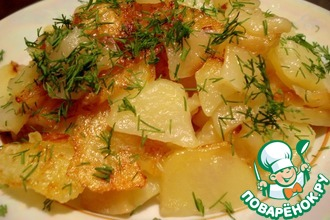 Рецепт: Жареный картофель в мультиварке