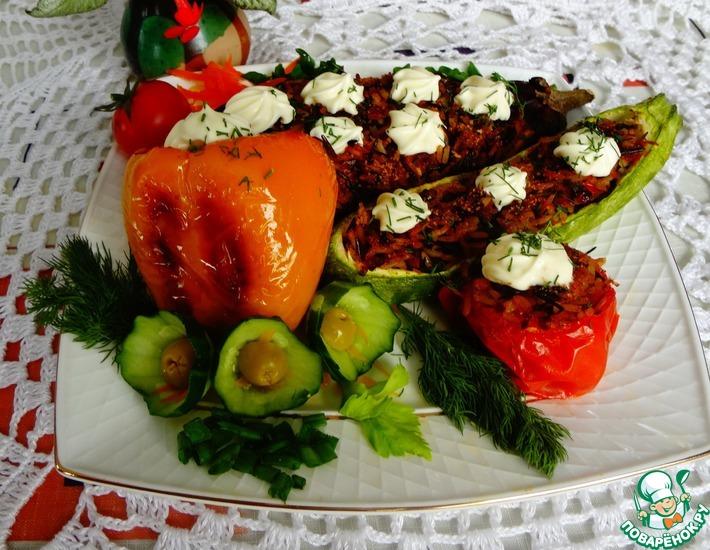 Рецепт: Запеченные овощи Дружная семейка
