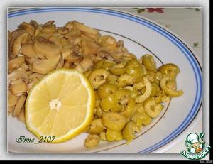 Салат из грибов с оливками – кулинарный рецепт