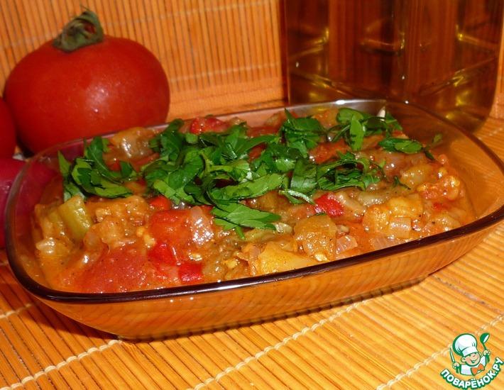 Рецепт: Салат из запеченных овощей