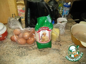 Spread the ingredients on the table)))))))))))
