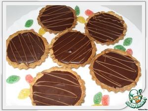 Разливаем ганаш по тарталеткам и в холодильник на 1 час.   Украшаем шоколадом или ягодами. С ягодами сейчас не сезон, поэтому я украсила жевательным мармеладом (дети были в восторге)))   Радуйте себя и своих гостей!)))