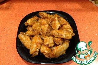 Рецепт: Тушеные крылышки