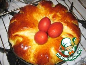 """Заварной пирог """"Цветок"""" – кулинарный рецепт"""