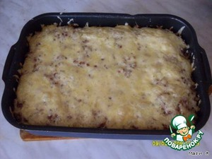 Bake in preheated oven 20 min, until just brown the cheese.