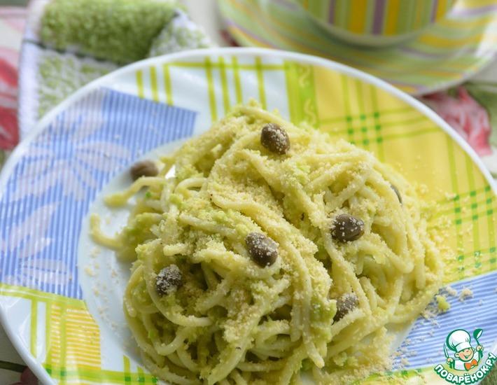Рецепт: Спагетти с соусом из авокадо