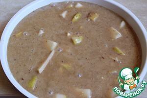 Постный пирог с грецкими орехами и грушами рецепт с фото