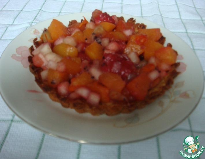 Рецепт: Постные корзиночки с фруктами