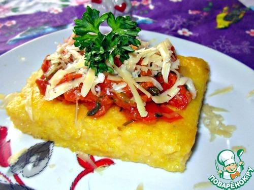Курица в томатном соусе с полентой – кулинарный рецепт