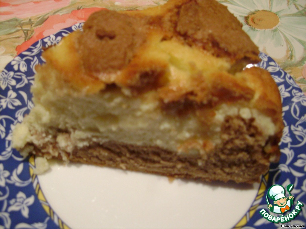 "Творожный пирог ""Коровка-Бурeнка"""