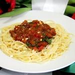 Спагетти с пепперони