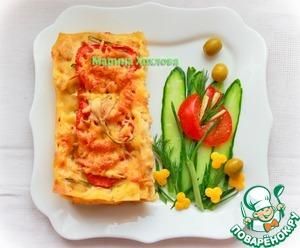Рецепт Лазанья с фаршем из куриной грудки с молочным соусом бешамель