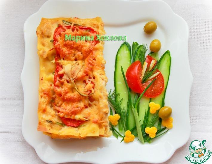 Рецепт: Лазанья с курицей и соусом Бешамель
