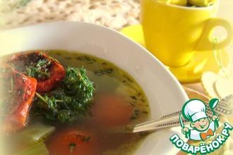 Рецепт: Минестроне с вялеными томатами