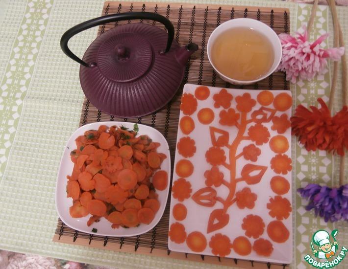 Рецепт: Морковь, обжаренная в сахаре
