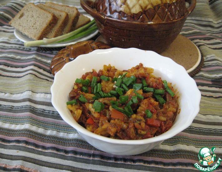 Рецепт: Острый рис в горшочке