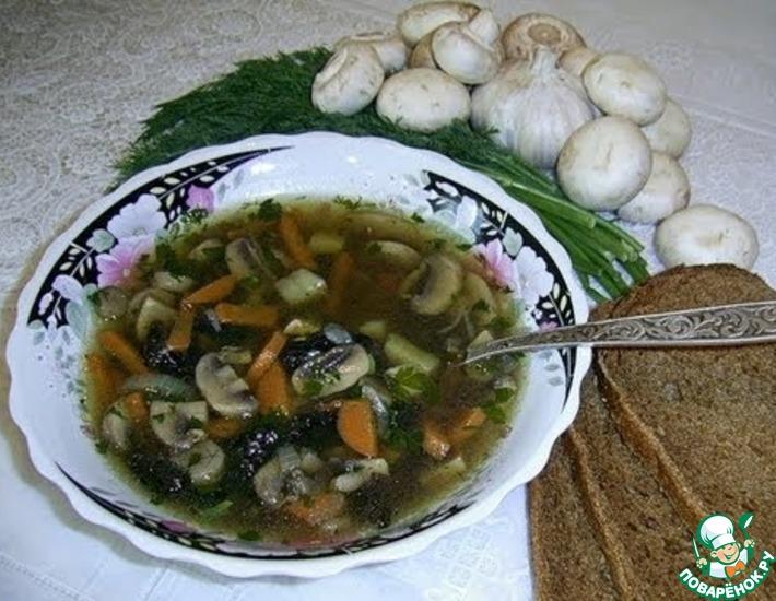 Рецепт: Грибной суп из шампиньонов