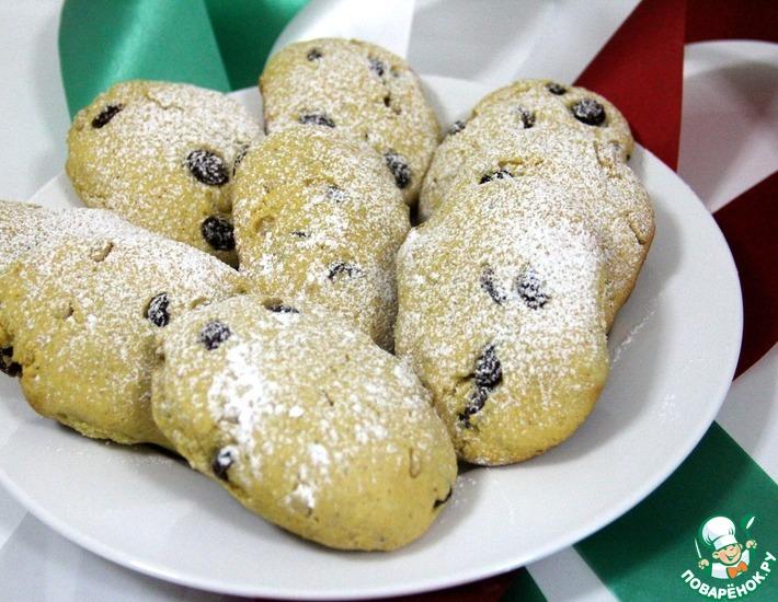 Рецепт: Кукурузное печенье с изюмом и кедровыми орехами