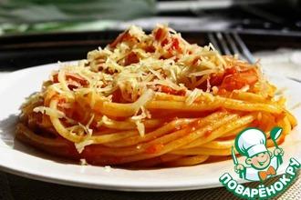 Рецепт: Спагетти с соусом маринара