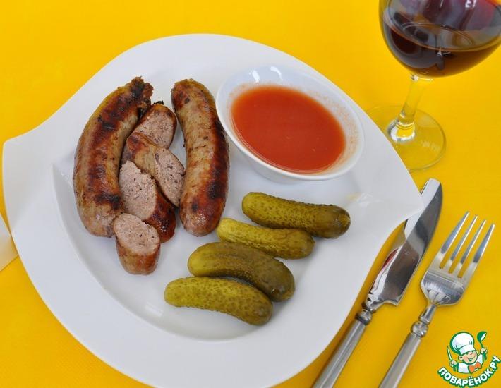 Рецепт: Колбаски итальянские на гриле