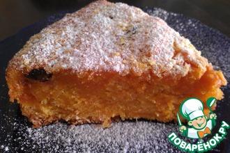 Рецепт: Пряный морковный пирог с изюмом и курагой