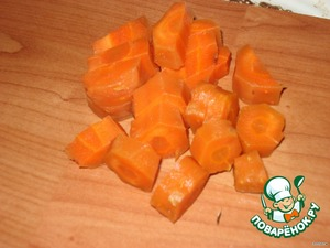 Also boil carrots, peeled and cut into pieces.