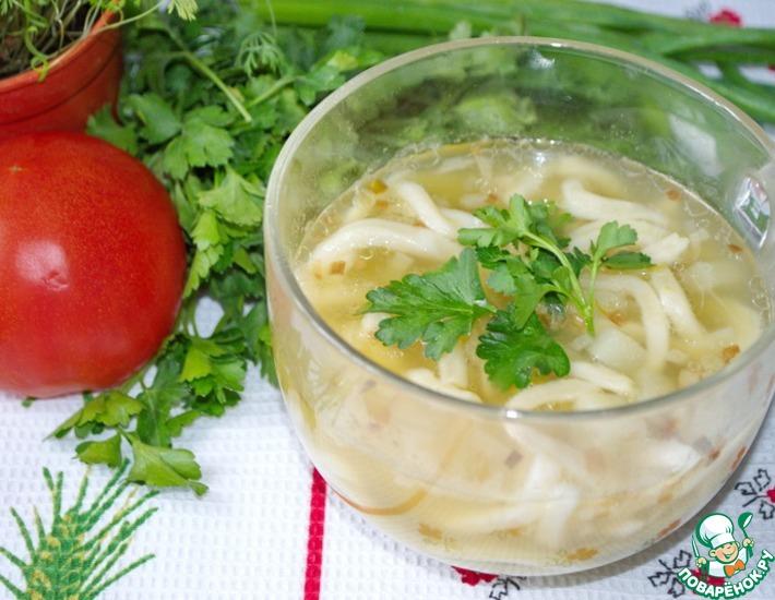 Рецепт: Постный гороховый суп
