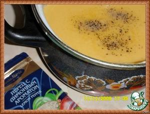 Сливочно-тыквенный суп с сырными рулетиками – кулинарный рецепт