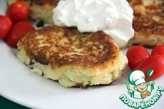 Рецепт: Картофельно-творожные пирожки с моцареллой