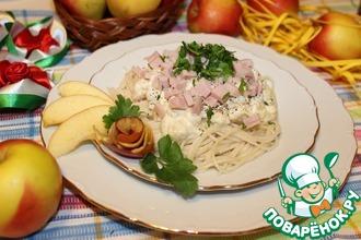 Рецепт: Спагетти с коньяком