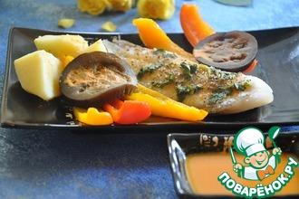 Рецепт: Тилапия с морковным соусом