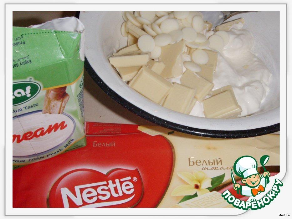 Брауниз с творогом, белым шоколадом и штрейзелем