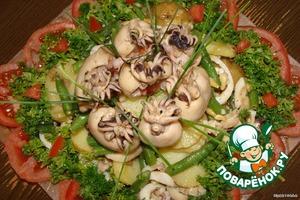 """Салат """"Папуасики"""" – кулинарный рецепт"""
