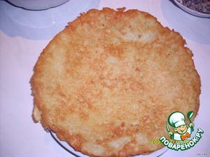 Fry 4 large pancakes (both sides)