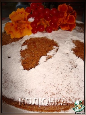 The top is decorated with powdered