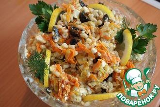 Рецепт: Салат из перловой каши